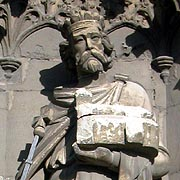 Statue of King Ethelbert of Kent - © Nash                         Ford Publishing