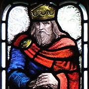 King Ethelbert of Kent in Stained Glass - ©                         Nash Ford Publishing